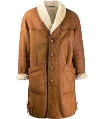 a.n.g.e.l.o. vintage cult '1980s oversized coat - neutrals