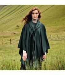 luxurious wool & cashmere irish cape dark green