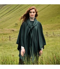luxurious wool & cashmere irish cape dark green