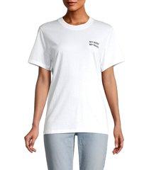 iro women's graphic short-sleeve t-shirt - white - size xs