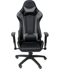 cadeira de escritório f16 - preta com cinza