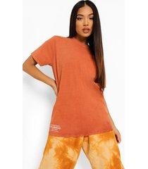 petite acid wash gebleekt calabasas t-shirt, orange