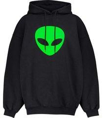 balenciaga balenciaga alien hoodie