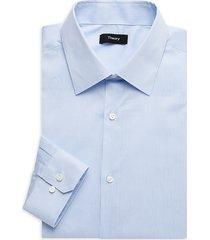 theory men's cedrick regular-fit striped dress shirt - olympic blue - size 15.5 l