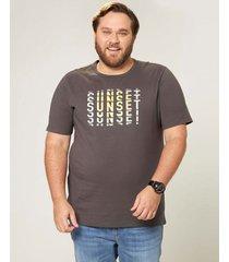 camiseta tradicional sunset wee! cinza escuro - m