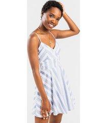 bradley striped mini dress - chambray