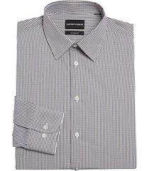 modern check dress shirt