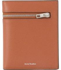 acne studios zip-around wallet - brown