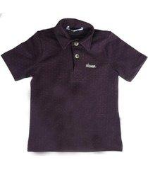 camiseta polo bebê oliver piquet micro poá masculina