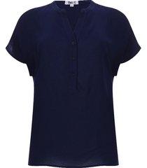 blusa suelta unicolor color azul, talla 10