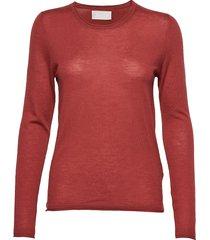 cornelia stickad tröja röd fall winter spring summer