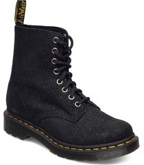 1460 pascal black glitter ray shoes boots ankle boots ankle boot - flat svart dr. martens