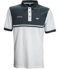 camisa liga retrô premium mustang polo boss