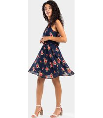 braxton floral flawless dress - navy