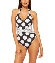 bleu by rod beattie plunge printed one-piece swimsuit women's swimsuit