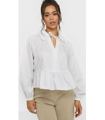 glamorous flounce front tie blouse vardagsblusar