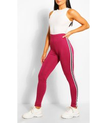 contrast panel supersoft leggings, berry