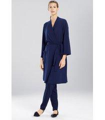 n-vious sleep/lounge/bath wrap/robe, women's, blue, size m, n natori