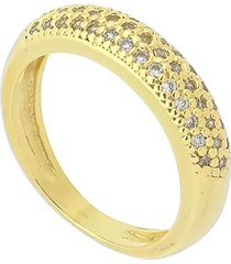 anel com micro zircônias cravadas 3rs semijoias dourado