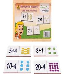 jogo da memória educativa formas geométricas 40 peças mdf - fundamental
