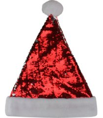 northlight reversible sequined christmas santa hat with faux fur cuff