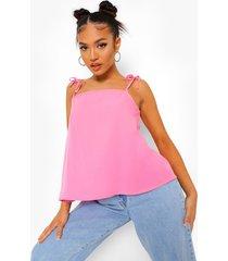 petite geweven hemdje met vierkante hals, pink