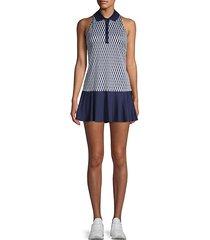argyle-print sleeveless tennis dress