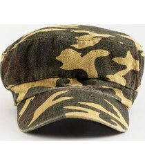 kimberly camo print cabbie hat - green