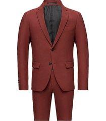 plain mens suit kostym röd lindbergh