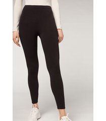 calzedonia modal and cashmere leggings woman black size xl