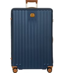 men's bric's capri 2.0 32-inch expandable rolling suitcase - blue
