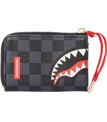 sprayground spucci wallet black check 910w3574-