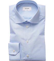 men's eton slim fit stripe dress shirt, size 14.5 - blue