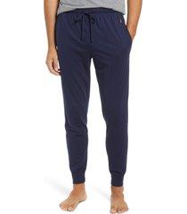 men's polo ralph lauren knit jogger pajama pants, size x-large - blue
