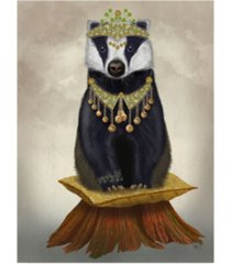 "fab funky badger with tiara, full canvas art - 27"" x 33.5"""