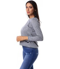 sweater  gris vov jeans clasic