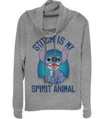 fifth sun juniors disney lilo stitch spirit stitch fleece cowl neck sweatshirt