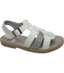 sandalia blanca plata keek