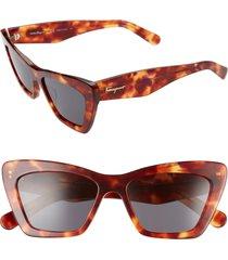 women's salvatore ferragamo 55mm cat eye sunglasses -