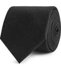 reiss ceremony - textured silk tie in black, mens