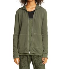 women's atm anthony thomas melillo front zip hoodie, size medium - green (nordstrom exclusive)