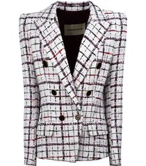 alexandre vauthier double-breasted blazer in white cotton
