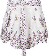 zimmermann floral print skirt