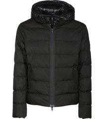 fay hooded padded mid-length jacket