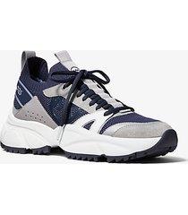 mk sneaker lucas in tessuto e pelle scamosciata - indaco scuro (blu) - michael kors