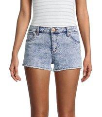 sts blue women's high-rise boyfriend denim shorts - blue - size 26 (2-4)