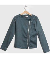 chaqueta ash doble cierre verde - calce ajustado
