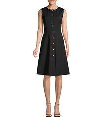 fahey sleeveless button-front dress