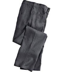 linnen broek in 5-pocket-style, leisteen 56