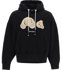 palm angels bear logo hoodie